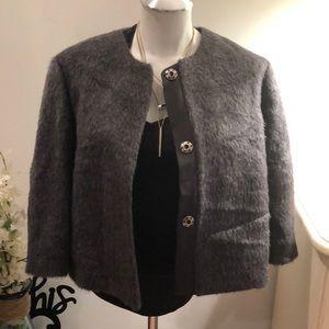 Brunello Cucinelli grey Alpaca/wool jacket 44